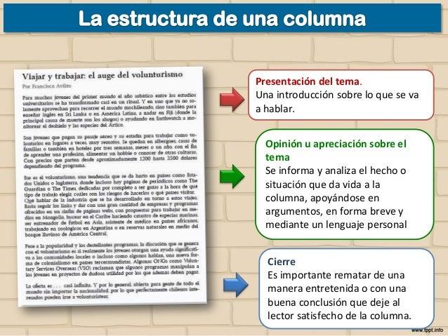 C mo se escribe una columna de opini n for Cual es la estructura del periodico mural