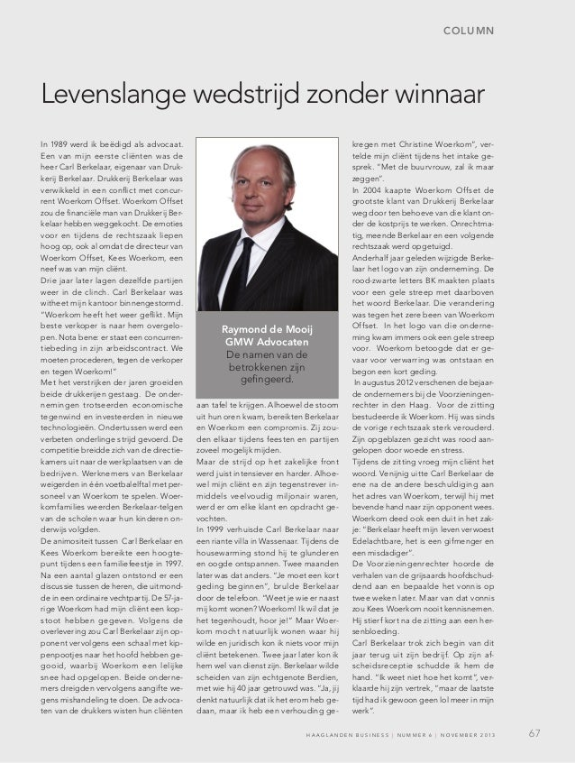 Raymond de Mooij (GMW) in Business Haaglanden nov. 2013