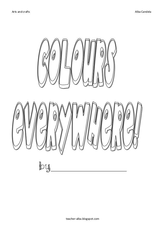 Colurs everywhere booklet