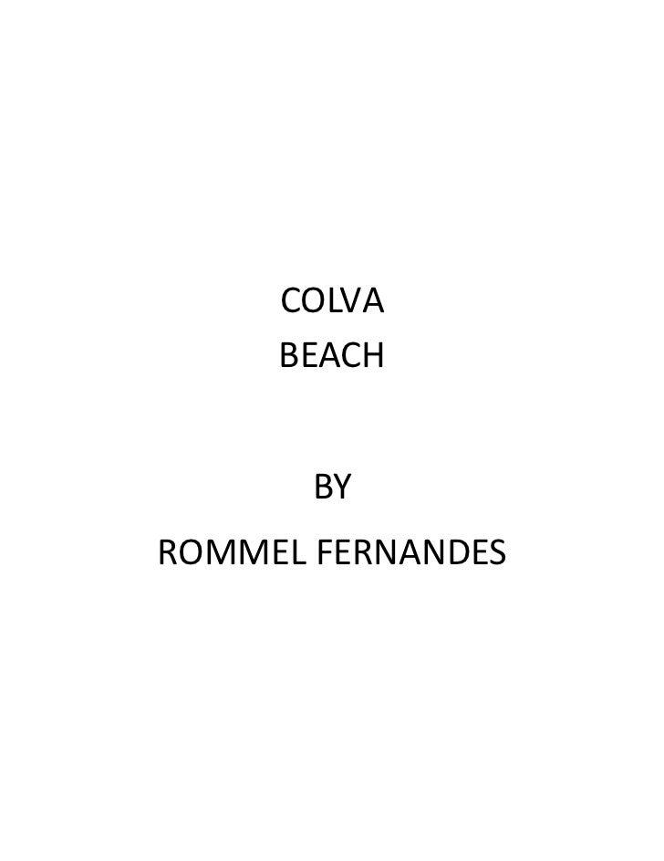 COLVA     BEACH       BYROMMEL FERNANDES