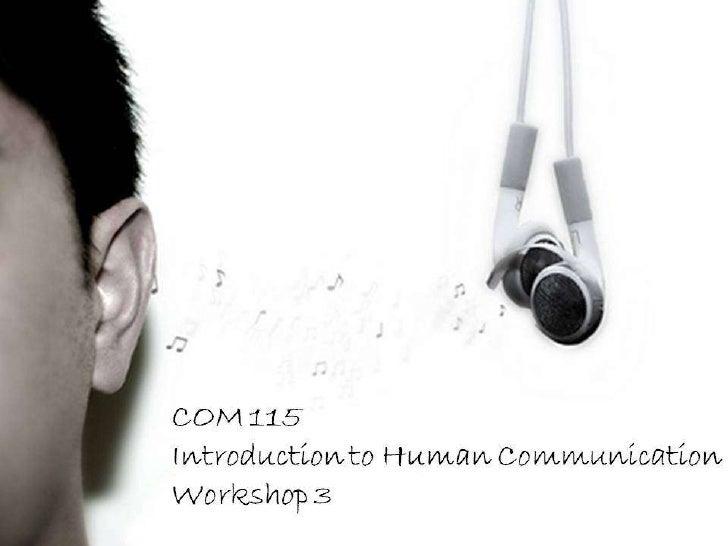 COM 115 Workshop 3 Slides