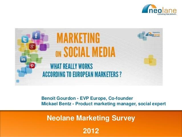 Benoit Gourdon - EVP Europe, Co-founder                           Mickael Bentz - Product marketing manager, social expert...