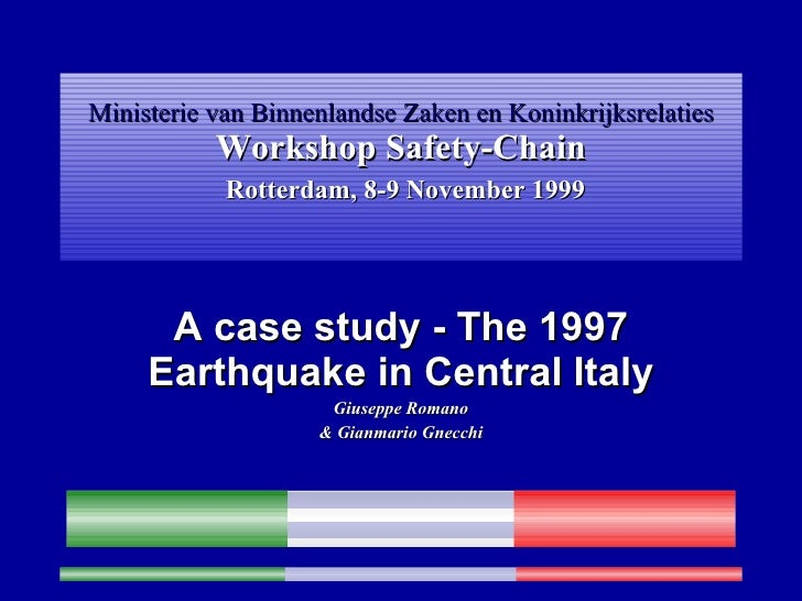 Com Foligno Umbria Earthquake sept 1997