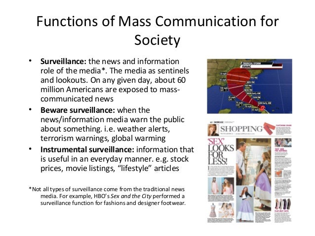 communication and the role of media in society Video created by university of amsterdam for the course introduction to communication more metaphors on the role of media the role of media in society.