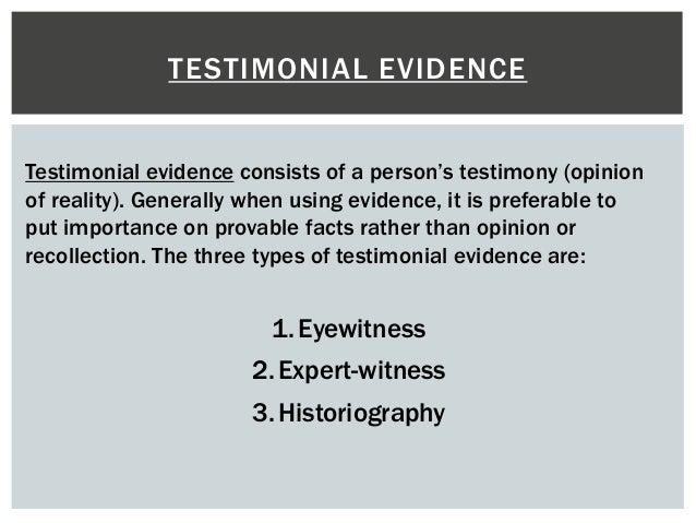 Image Gallery Testimonial Evidence