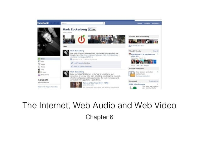 The Internet, Web Audio and Web Video               Chapter 6