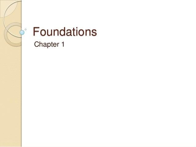 FoundationsChapter 1