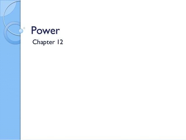 PowerChapter 12