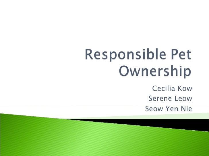 COM255 - Responsible Pet Ownership