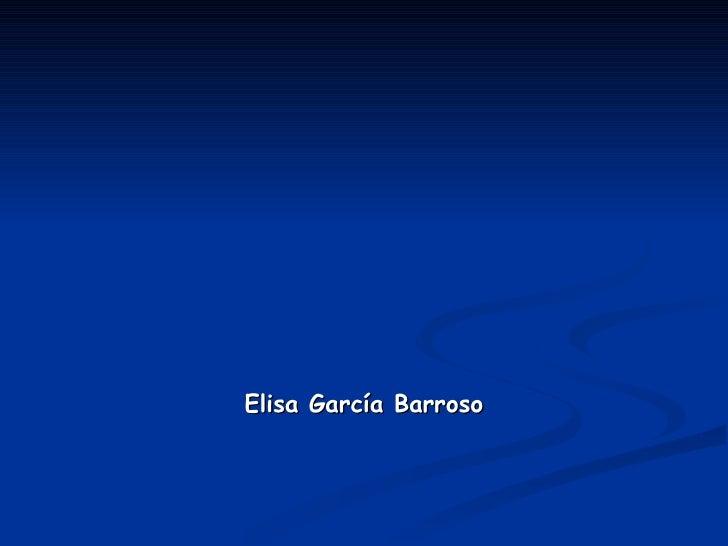 Elisa García Barroso