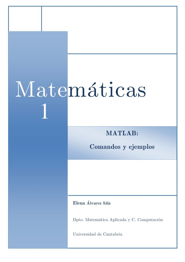 Comandos ejemplo-matlab