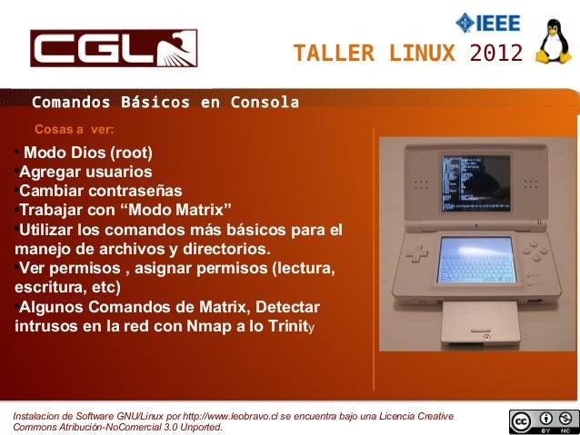 Comandos Basicos en Consola GNU Linux