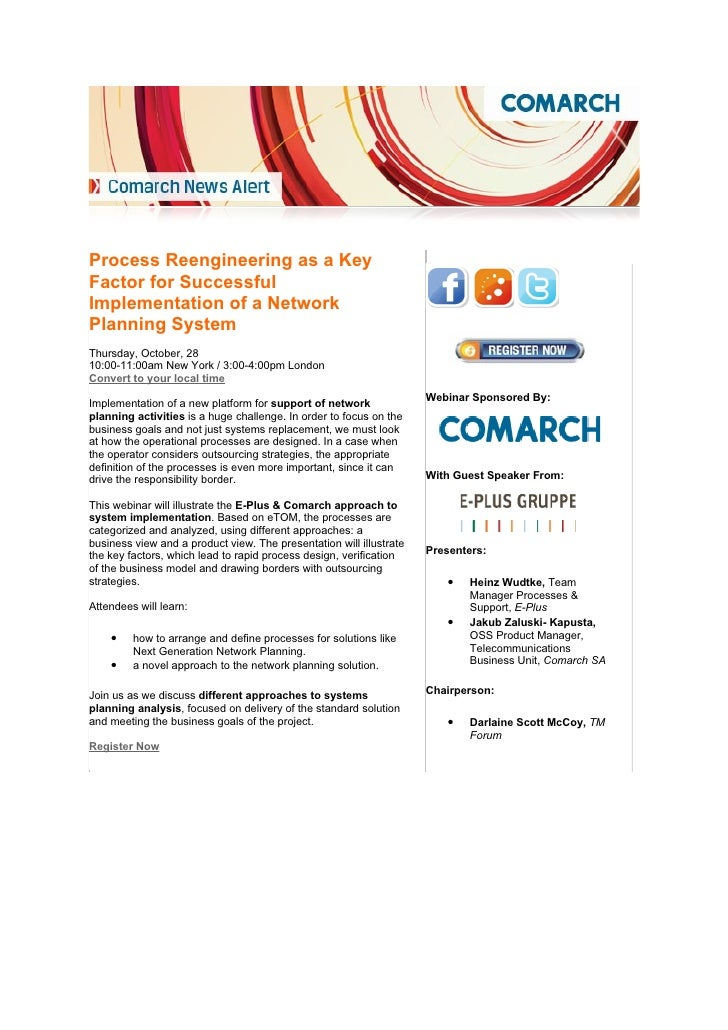 Comarch and e plus invites for common webinar