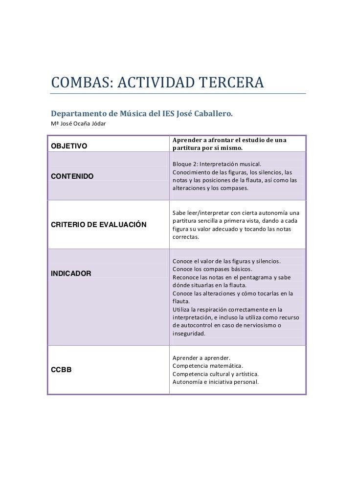 Combas act 3