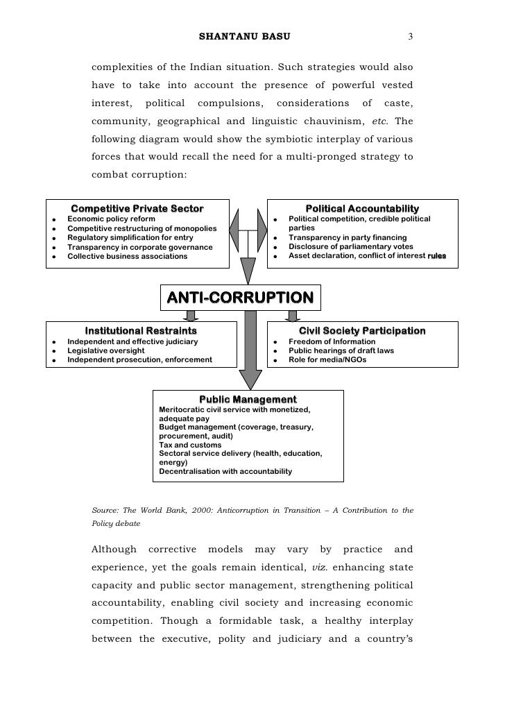essay on causes of corruption in india