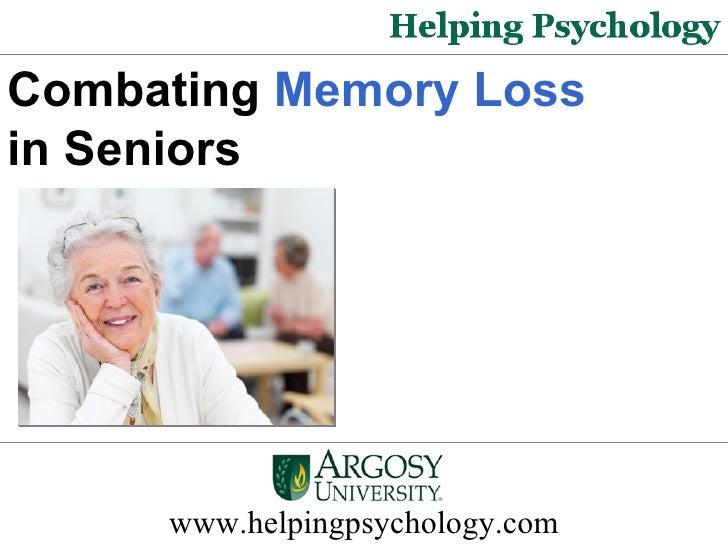 Combating Memory Loss In Seniors