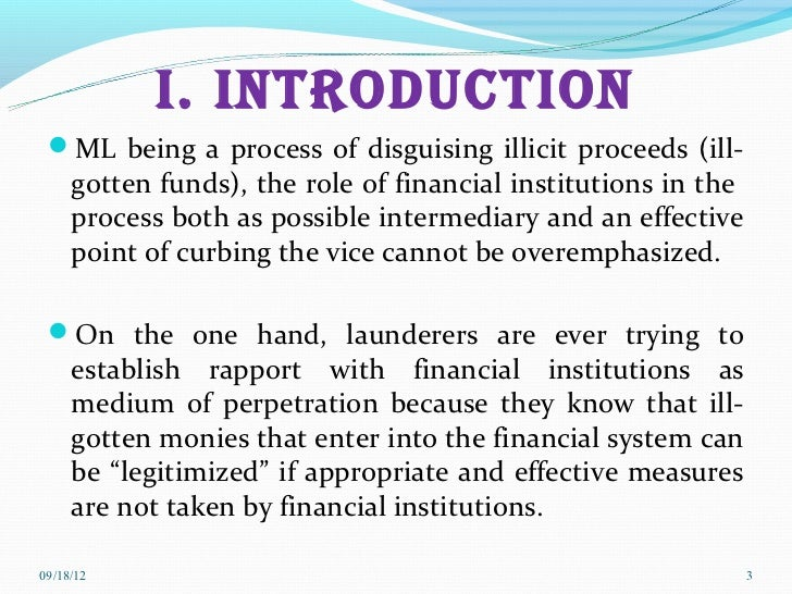 short essay on money laundering Money laundering defined and explained with examples money laundering: the act of disguising the source or true nature of money obtained through illegal means.