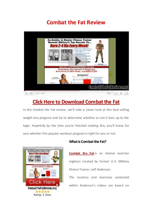 Combat the Fat Review      Click Here to Download Combat the FatIn this Combat the Fat review, we'll take a closer look at...
