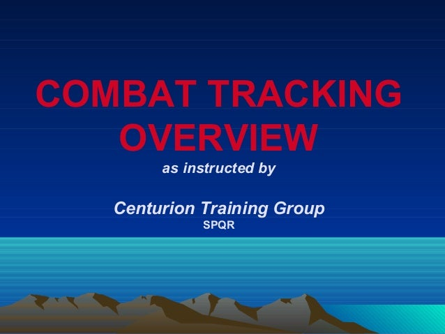 Combat Tracking Overview