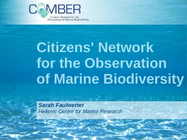 Citizen Science Workshop: Comber (Sarah Faulwetter)