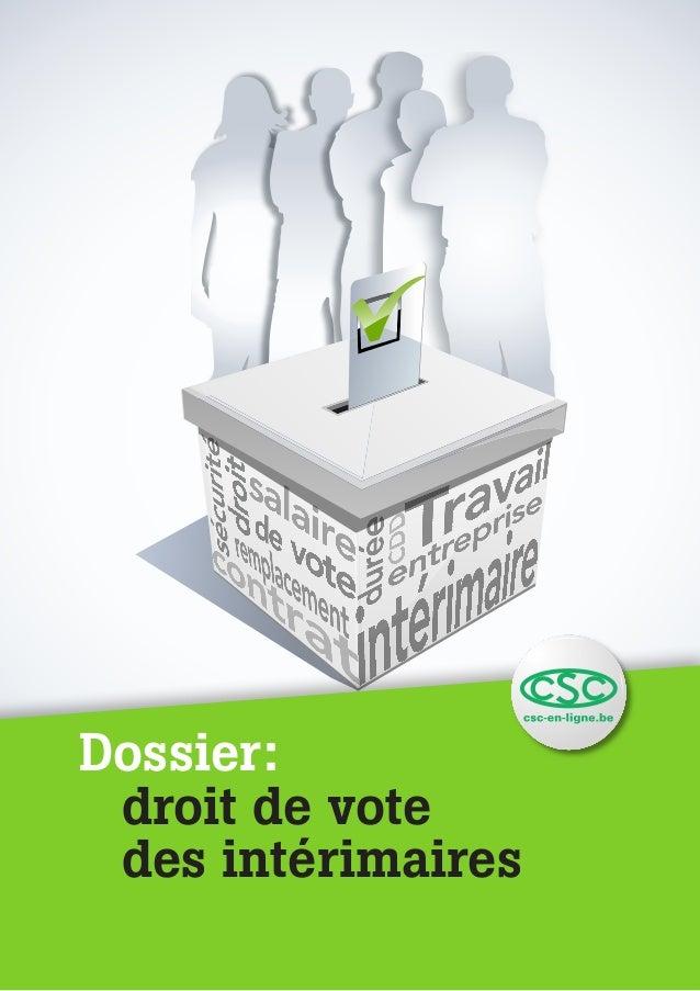 Dossier:  droit de vote  des intérimaires