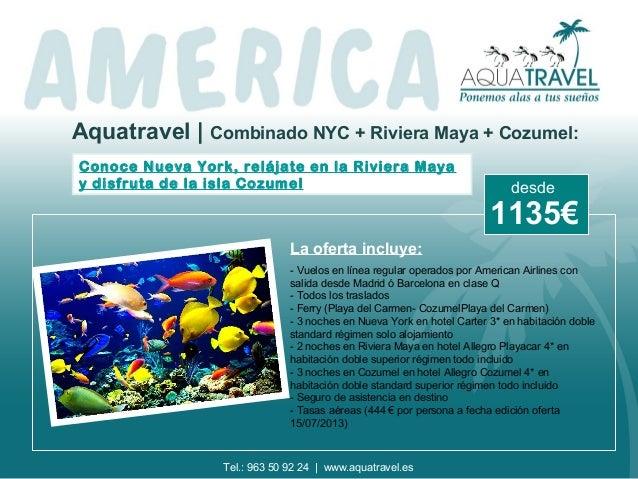 Aquatravel | Combinado NYC + Riviera Maya + Cozumel: Conoce Nueva York, relájate en la Riviera Maya y disfruta de la isla ...