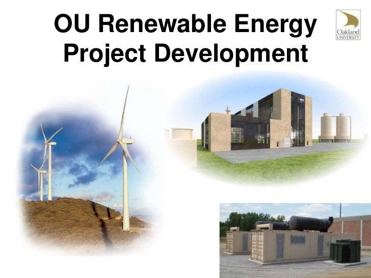 OU Renewable Energy Project Development<br />
