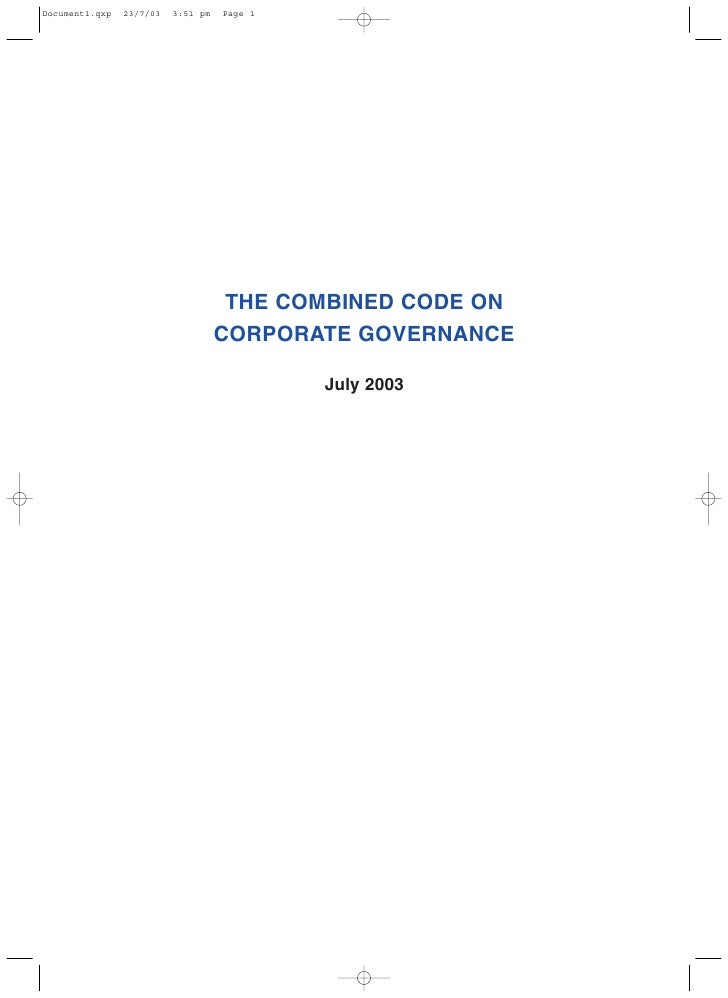 Combined Code Corporate Governance