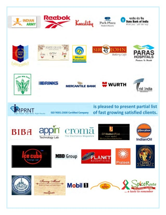 is pleased to present partial list of fast growing satisfied clients.