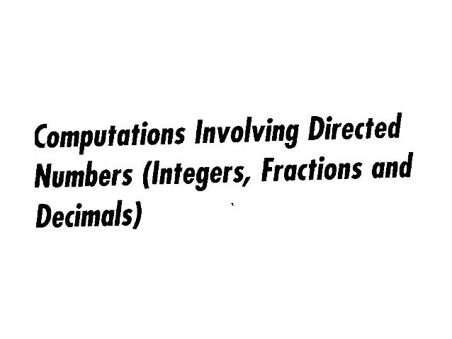 Combine operations on directed numbers