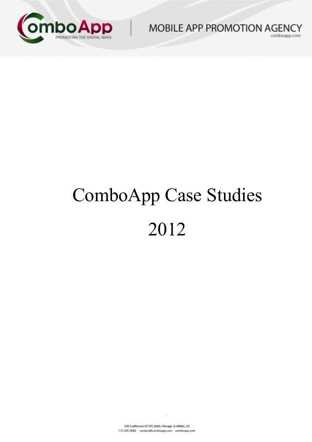 iPhone App Marketing: ComboApp Case Studies 2012