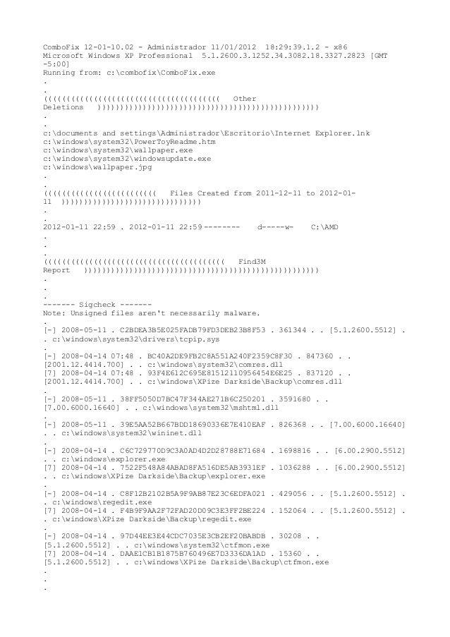 ComboFix 12-01-10.02 - Administrador 11/01/2012 18:29:39.1.2 - x86 Microsoft Windows XP Professional 5.1.2600.3.1252.34.30...