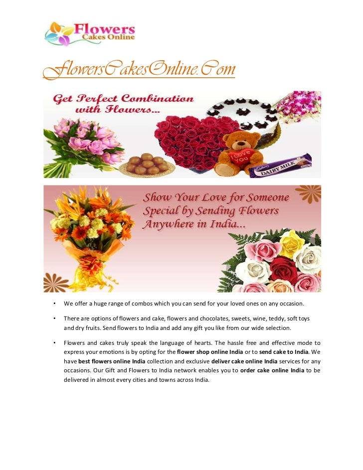 FlowersCakesOnline.Com •   We offer a huge range of combos which you can send for your loved ones on any occasion. •   The...