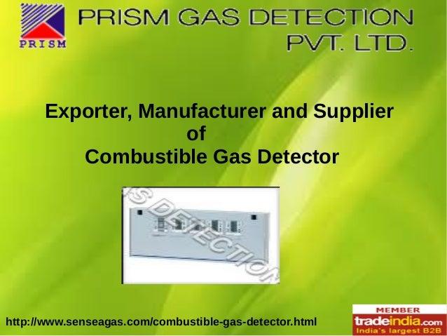 Combustible Gas Detector Manufacturer, Exporter, Mumbai