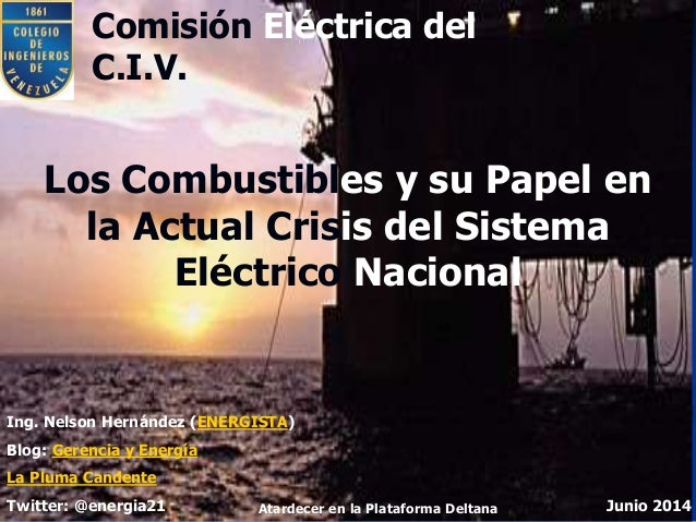 Venezuela. Combustibles electricos