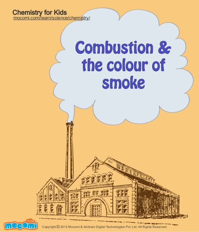 Combustion Process - Colour Of the Smoke - Mocomi.com