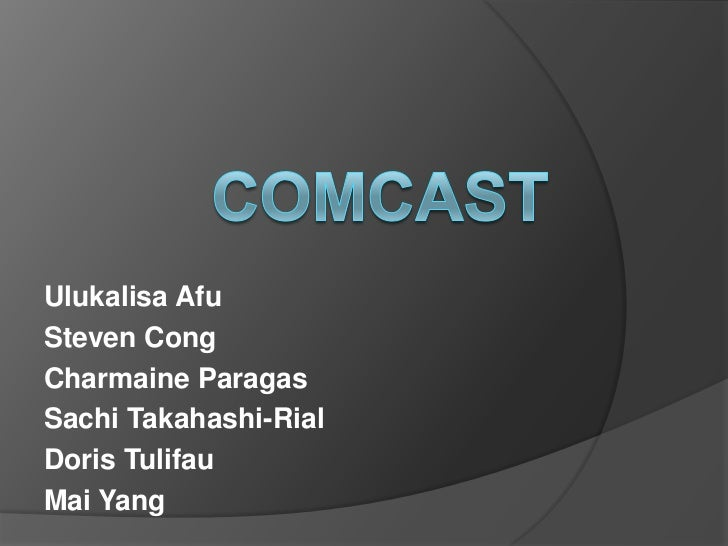 Comcast Project