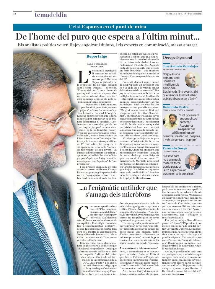 Diari ARA: Com comunica el president Mariano Rajoy