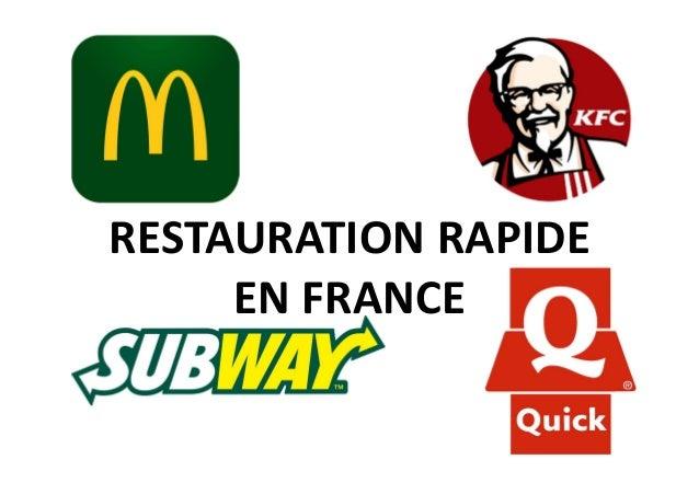 RESTAURATION RAPIDE EN FRANCE