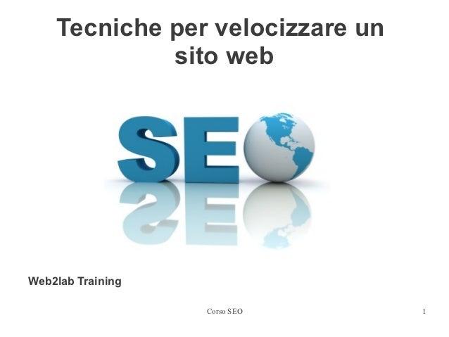 Come velocizzare un sito web | Corso SEO a Bologna