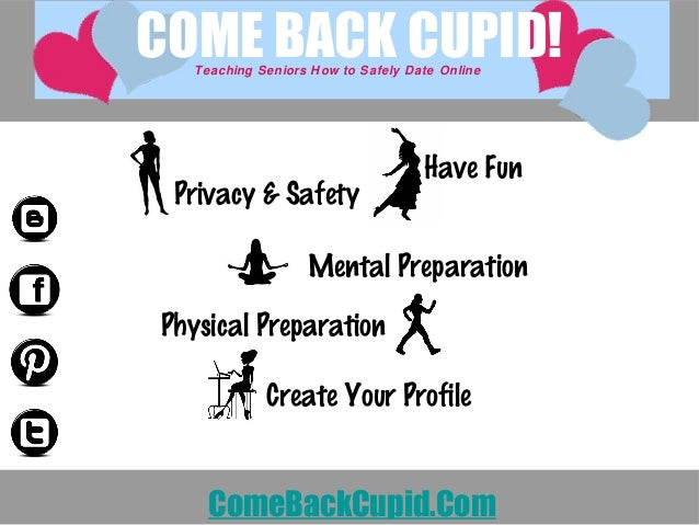 Have Fun Privacy & Safety Mental Preparation Physical Preparation Create Your Profile COME BACK CUPID!Teaching Seniors How...