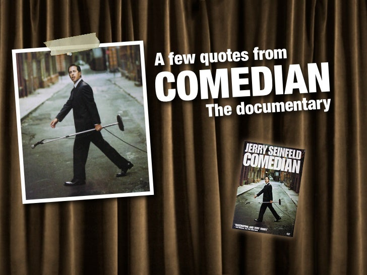 "Quotes & Lessons from ""Comedian"""