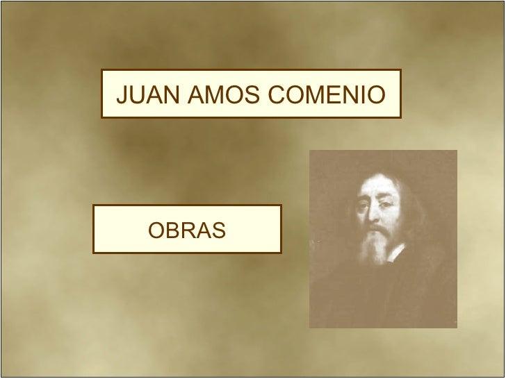OBRAS JUAN AMOS COMENIO