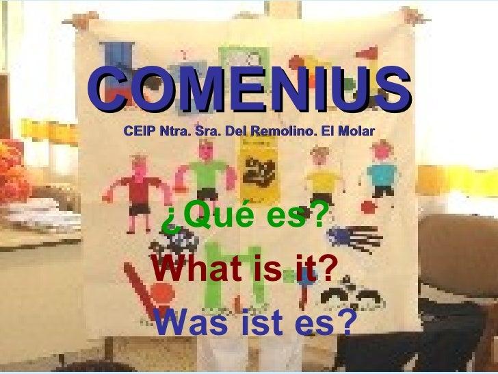 COMENIUS CEIP Ntra. Sra. Del Remolino. El Molar ¿Qué es?   What is it?  Was ist es?