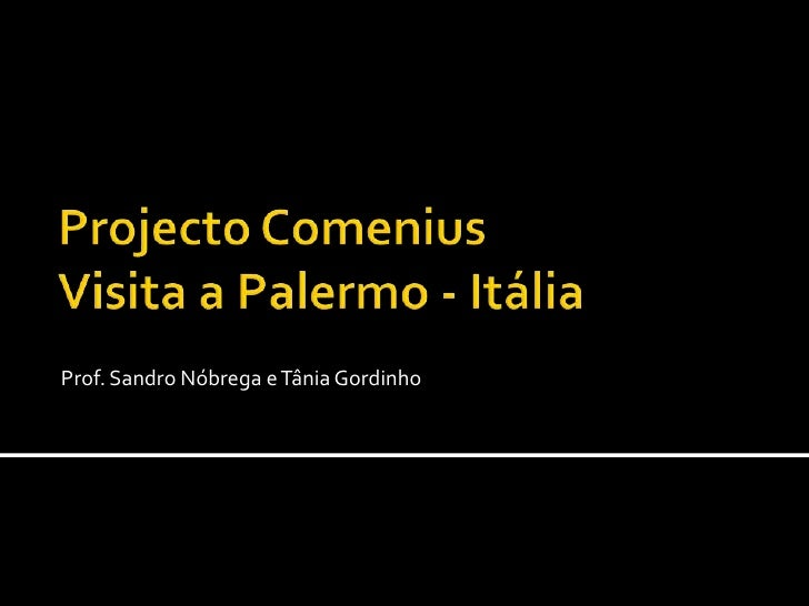 Projecto ComeniusVisita a Palermo - Itália<br />Prof. Sandro Nóbrega e Tânia Gordinho<br />