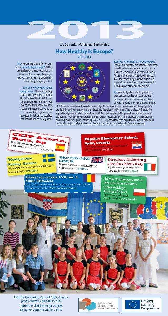 LLL Comenius Multilateral Partnership  How Healthy is Europe? 2011-2013 Year Two: 'How healthy is our environment?' School...