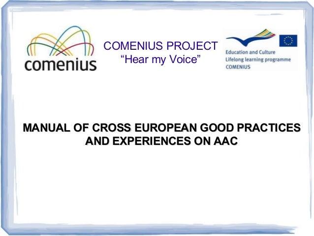 Comenius hear my voice