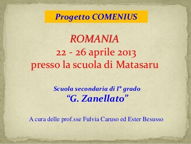 Comenius in romania