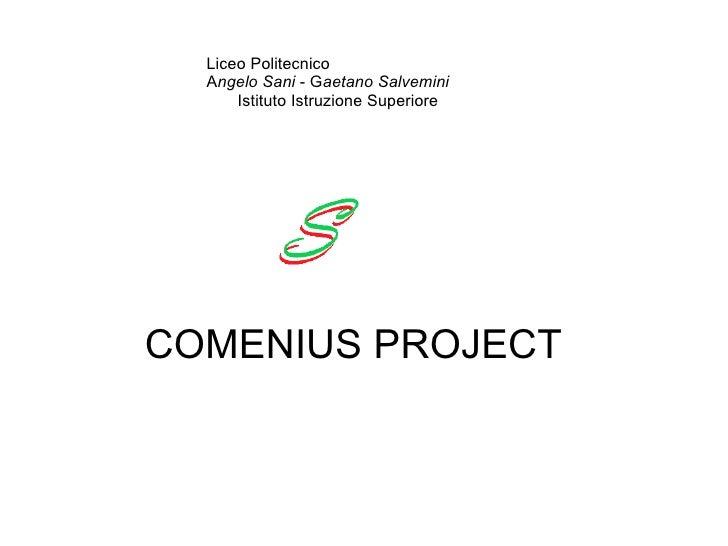 Comenius Presentazione