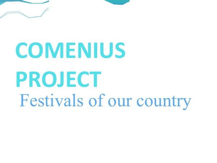 Comenius project festivals in spain.